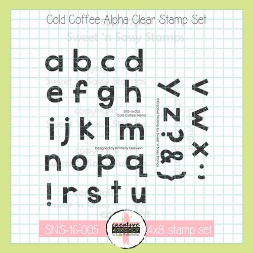 Creative Worship: Cold Coffee Alphabet Clear Stamp Set