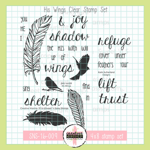 Creative Worship: His Wings Clear Stamp Set