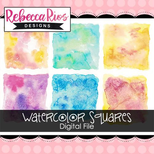 Watercolor Squares Digital File