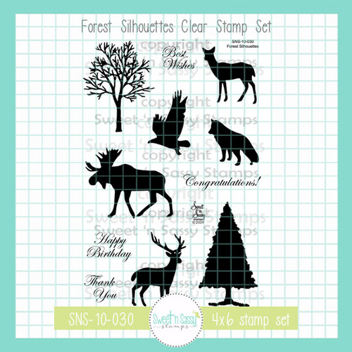 Forest Silhouettes Clear Stamp Set