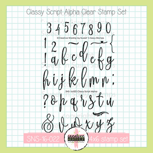 Creative Worship: Classy Script Alpha Clear Stamp Set