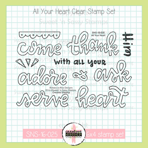 Creative Worship: All Your Heart Clear Stamp Set