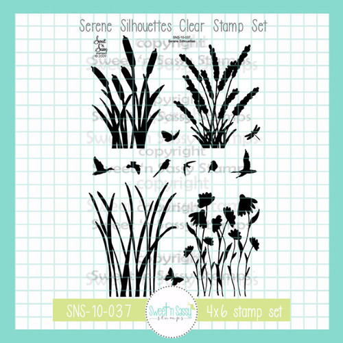 Serene Silhouettes Clear Stamp Set