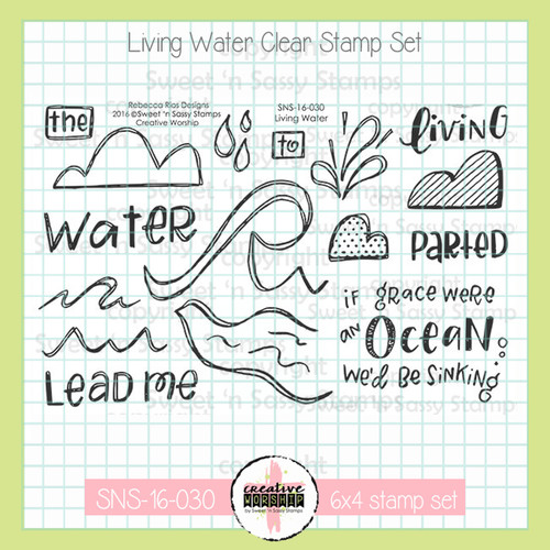 Creative Worship: Living Water Clear Stamp Set