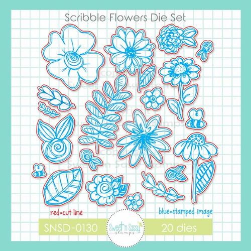 Scribble Flowers Dies