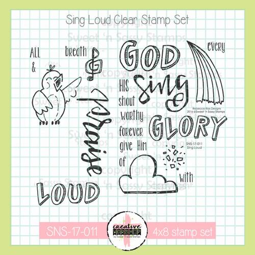 Creative Worship: Sing Loud Clear Stamp Set
