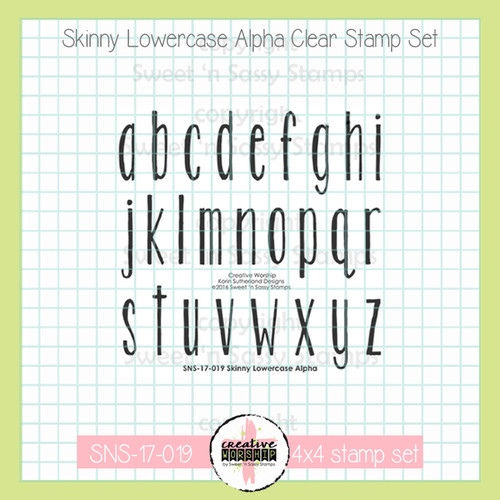 Creative Worship: Skinny Lowercase Clear Stamp Set