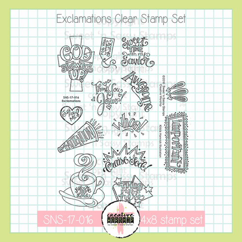 Creative Worship: Exclamations Clear Stamp Set