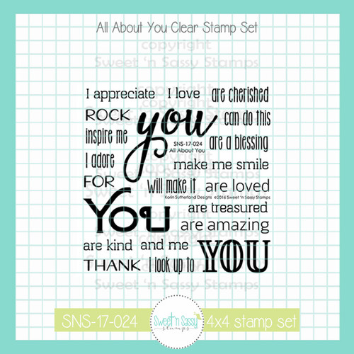 All About You Clear Stamp Set