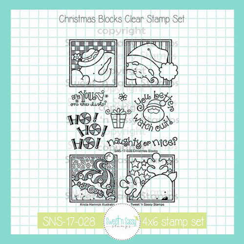 Christmas Blocks Clear Stamp Set