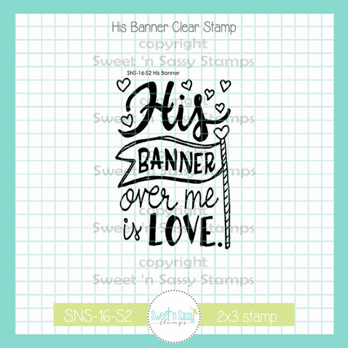 His Banner Clear Stamp Single