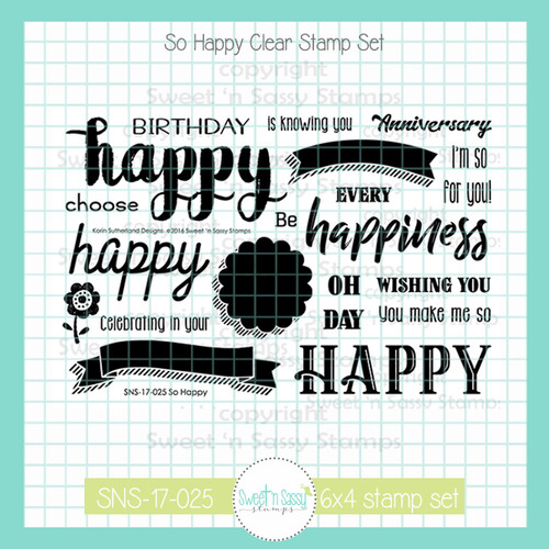 So Happy Clear Stamp Set