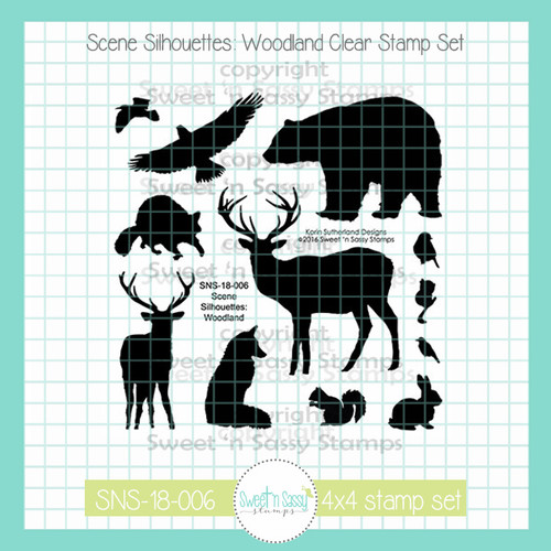 PREORDER Scene Silhouettes: Woodland Clear Stamp Set
