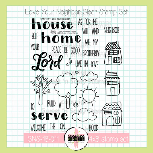 Creative Worship: Love Your Neighbor Clear Stamp Set