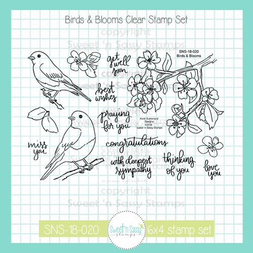 Birds & Blooms Clear Stamp Set