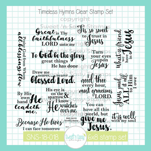PREORDER Timeless Hymns Clear Stamp Set