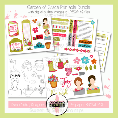 Creative Worship: Garden of Grace Printable Bundle with Devotional