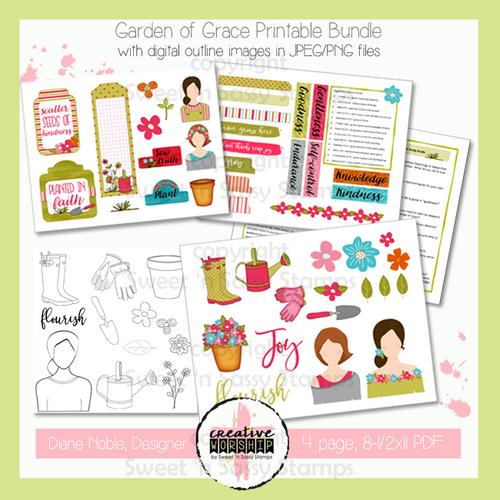 Creative Worship: Garden of Grace Printable Bundle with Devotional