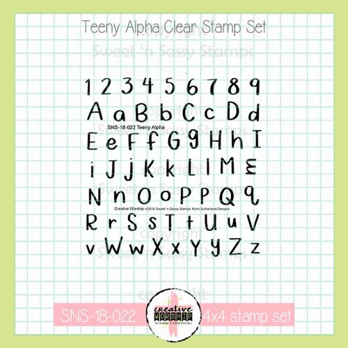Creative Worship: Teeny Alpha Clear Stamp Set