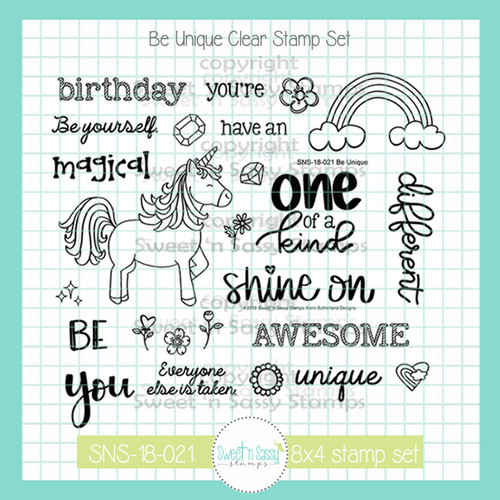 Be Unique Clear Stamp Set