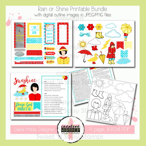 Creative Worship: Rain or Shine Printable Bundle with Devotional