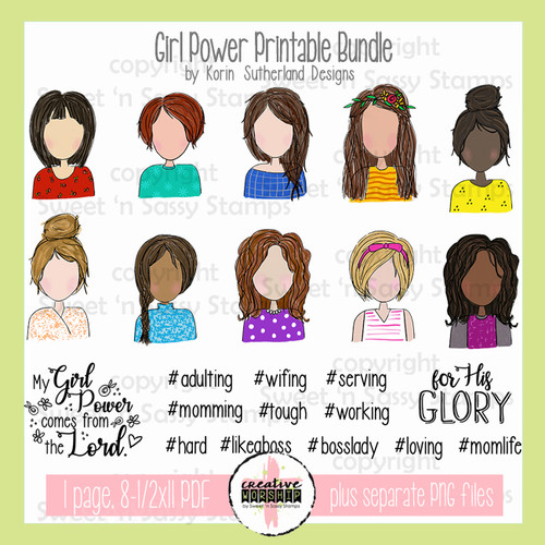 Creative Worship: Girl Power Printable Bundle