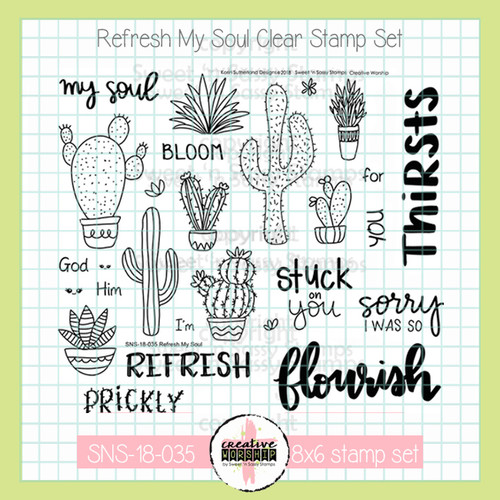 Creative Worship: Refresh My Soul Clear Stamp Set