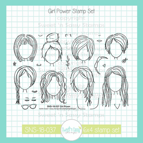 Girl Power Clear Stamp Set