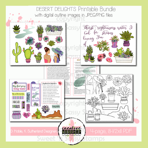 Creative Worship: Desert Delights Printable Bundle with Devotional