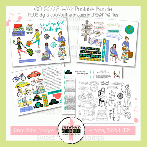 Creative Worship: Go God's Way Printable Bundle with Devotional