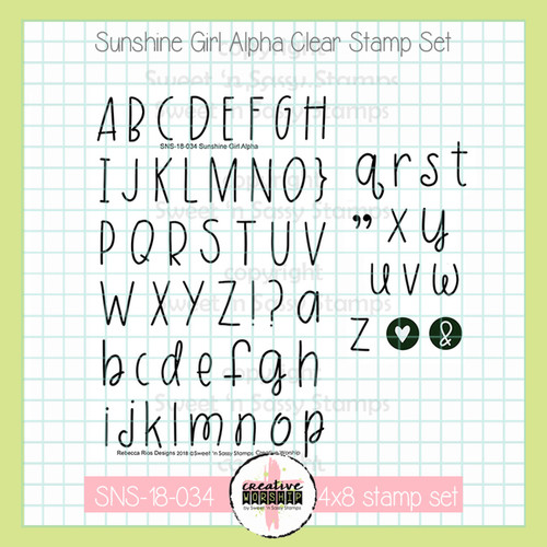 Creative Worship: Sunshine Girl Alpha Clear Stamp Set