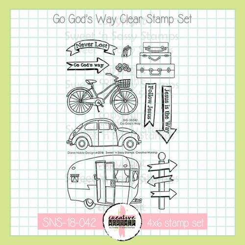 Creative Worship: Go God's Way Clear Stamp Set