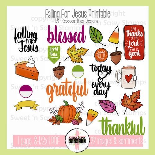 Creative Worship: Falling For Jesus Printable