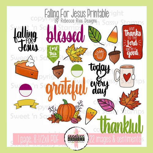 Creative Worship: Falling For Jesus Printable