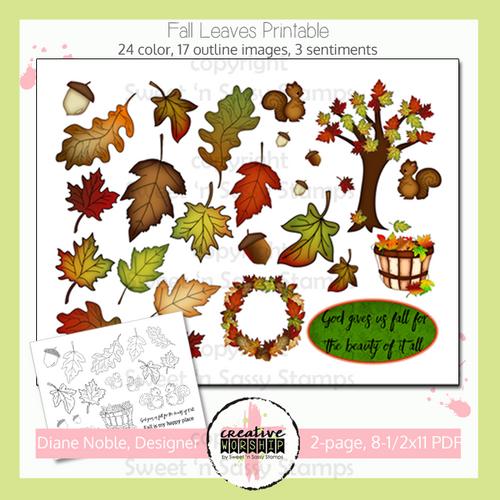 Creative Worship: Fall Leaves Printable