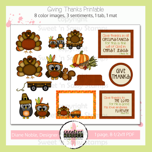 Creative Worship: Giving Thanks Printable