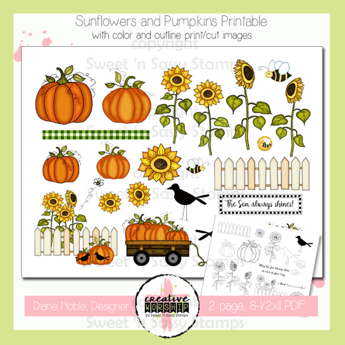 Creative Worship: Sunflowers & Pumpkins Printable
