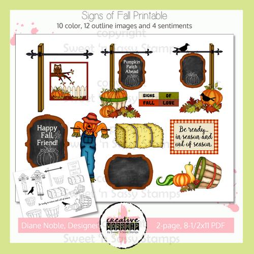 Creative Worship: Signs of Fall Printable