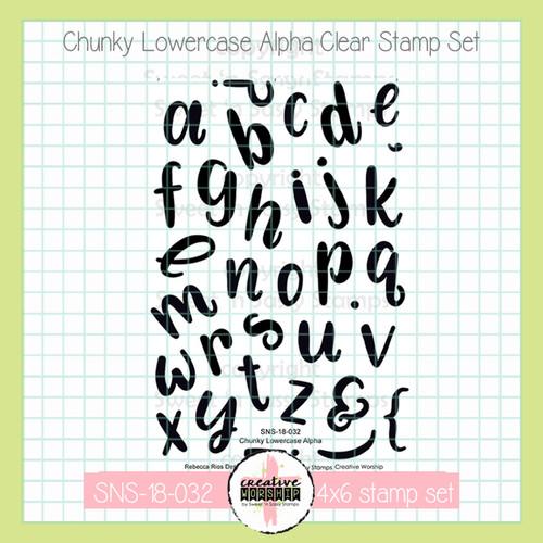 Creative Worship: Chunky Lowercase Alpha Clear Stamp Set