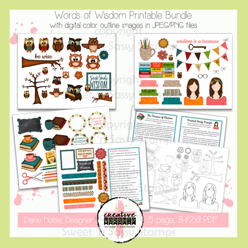Creative Worship: Words of Wisdom Printable Bundle with Devotional