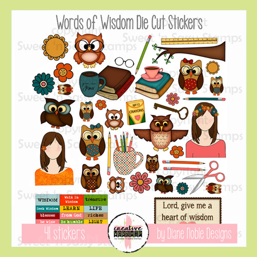 Words of Wisdom Die Cut Stickers