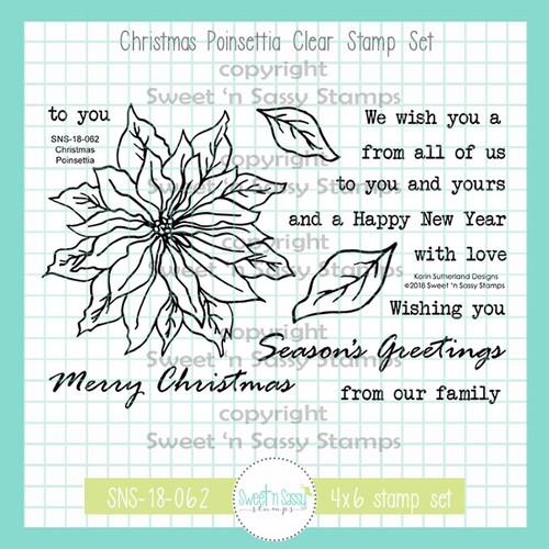 Christmas Poinsettia Clear Stamp Set