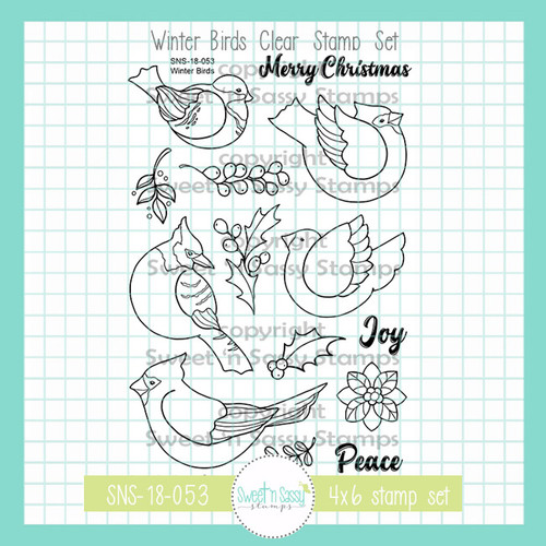 Winter Birds Clear Stamp Set