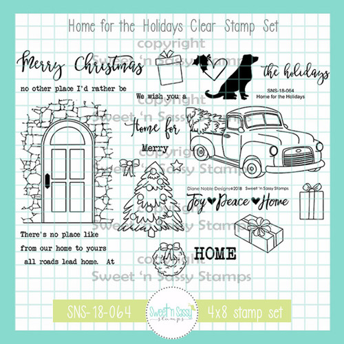 Home for the Holidays Clear Stamp Set
