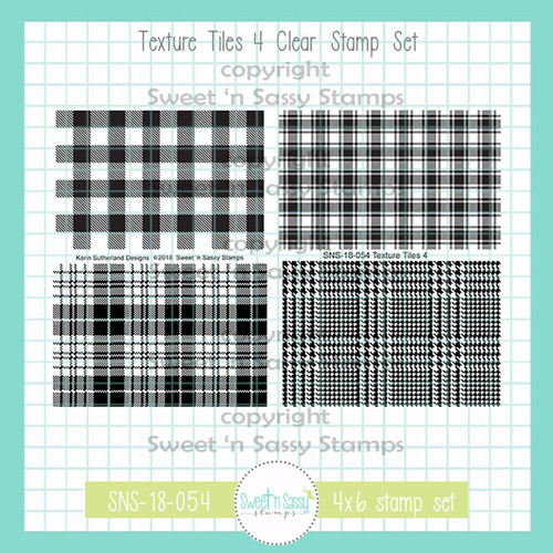 Texture Tiles 4 Clear Stamp Set