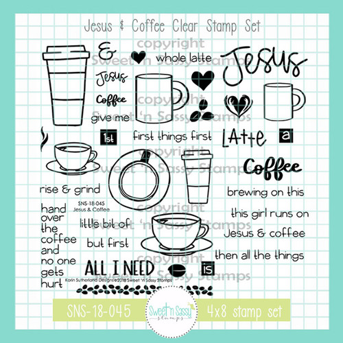 Jesus & Coffee Clear Stamp Set