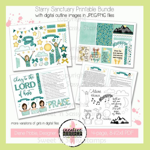 Creative Worship: Starry Sanctuary Printable Bundle with Devotional