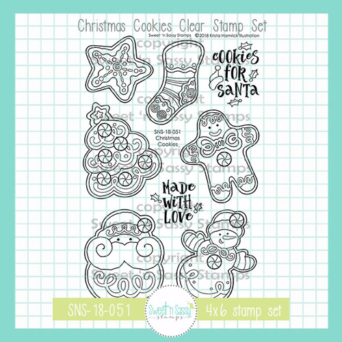 Christmas Cookies Clear Stamp Set