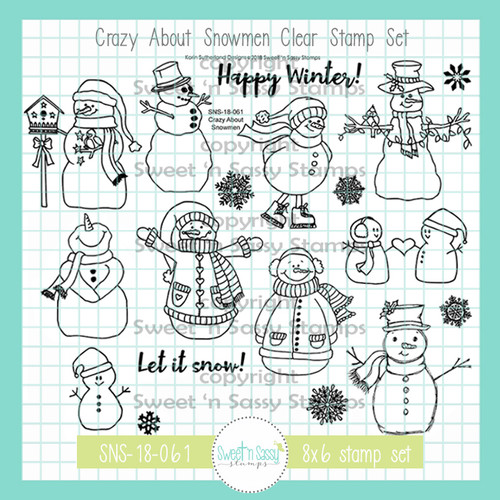 Crazy About Snowmen Clear Stamp Set