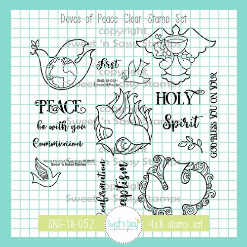 Doves of Peace Clear Stamp Set